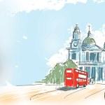 Digital illustration St Paul Cathedral London UK — Stock Photo