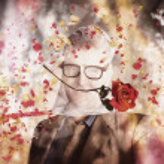 Funny valentine nerd caught in net of romance — Stock Photo #39032413