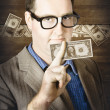 Stock Photo: Banking business man with American money