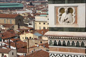 Panoramic view of Florence from the bell tower — Stock Photo