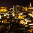 Royalty-Free Stock Photo: Panoramic view of Matera at night, Basilicata, Italy Town in the rock
