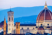 The Cathedral and the Brunelleschi Dome at sunset — Foto Stock