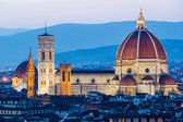 The Cathedral and the Brunelleschi Dome at sunset — ストック写真