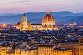 The Cathedral and the Brunelleschi Dome — 图库照片