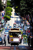 Cable Car in the streets of San Francisco — Stock Photo