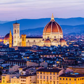 The Cathedral and the Brunelleschi Dome — Stock Photo