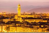 Piazza della Signoria at sunset — Stok fotoğraf