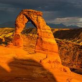 Arco delicado al atardecer — Foto de Stock
