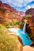 Mooney Falls, Havasupai Indian Reservation — Stock Photo