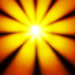 Yellow disco light in a sun star shape - Stock Photo