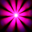 Pink disco dance light in a bright sun star shape — Stock Photo