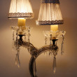 Old or antique and vintage or retro lamp — Stock Photo