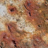 Old iron plate with rust on it — Stock Photo
