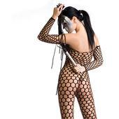 Kinky woman with mask — Stock Photo