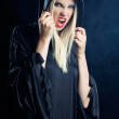 Woman in gothic halloween style — Stock Photo #29958035