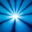 Blue disco dance light in a bright sun star shape — Stock Photo