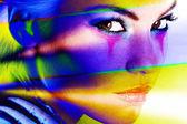 Kobieta kolorowy — Zdjęcie stockowe