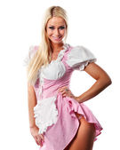 Beautiful woman in tiroler or oktoberfest style — Stock Photo