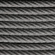 Steel wire or cable — Stock Photo
