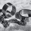 Hard steel handcuffs or cuffs — Stock Photo #36767317