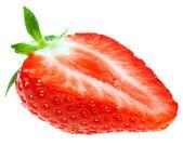 крупным планом вкусные красная клубника — Стоковое фото