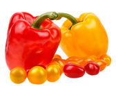 Closeup of delicious hot paprika and tomato — Stock Photo