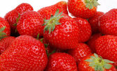 Closeup of delicious red strawberry — Stock Photo