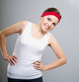 Attractive young woman in sportswear. Woman engaged in fitness. — Stock Photo
