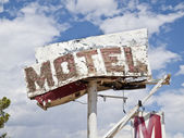 Motel Sign Ruin — Stock Photo