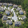 Modern Middle Class Suburbia Aerial Eastern USA — Stock Photo #12574046