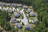 Modern Middle Class Suburbia Aerial Eastern USA — Foto de Stock