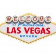 Las Vegas Welcome Sign Diamond Isolated With Clipping Path — Stock Photo #15848823