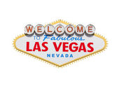 Las Vegas Welcome Sign Diamond Isolated With Clipping Path — Stock Photo