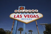 Las Vegas welcome sign with palm trees — Stock Photo