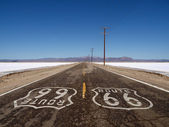 Route 66 Mojave Desert Salt Flats — Stock Photo