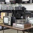Interior Thrift Store with Vintage Electronics — Stock Photo