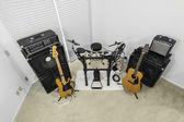 Rockové hudební místnost - vysoký úhel — Stock fotografie