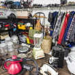 Garage Sale Corner - Vintage Thrift Store Goods - Stock Photo