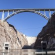 Stock Photo: Historic Hoover Dam and It's Newly Opened Bypass Bridge