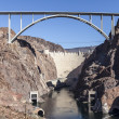 Stock Photo: Hoover Dam Bypass Bridge Canyon View