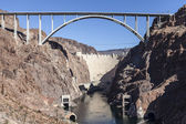 Hoover Dam Bypass Bridge Canyon View — Stock Photo