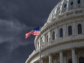 Dark Sky over US Capitol Building — Stock Photo