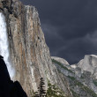 Spring Storm Yosemite Falls — Stock Photo