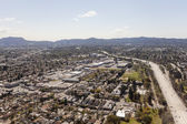 North Hollywood California Freeway Aerial — Stock Photo