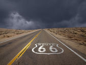 Route 66 Mojave Desert Storm Sky — Stock Photo