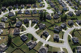 Modern Suburbs Aerial — Stock Photo