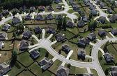 Modern Suburbs Aerial — Stock Photo
