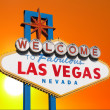 Las Vegas Sign with Sunset Sky - Stock Photo