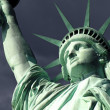 Statue of Liberty Isoalted on White — Foto Stock
