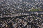 Congested LA Freeway Aerial — Stock Photo